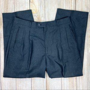 LOUIS RAPHAEL Gray 100% Wool Straight Dress Pants